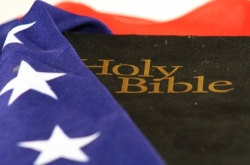 Holy Bible and American Flag