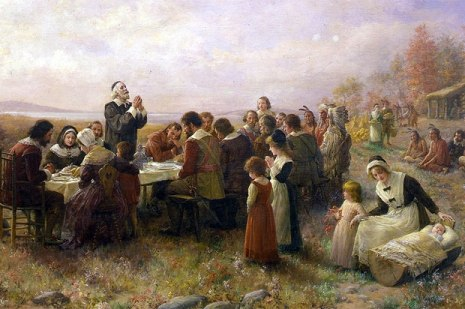 Pilgrims giving Thanks