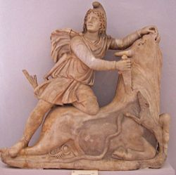 350px-Mithras_slaying_the_Bull