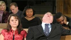 worldly man in church